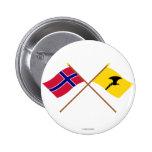 Banderas cruzadas de Noruega y de Telemark Pin