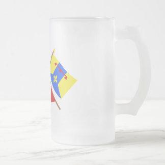 Banderas cruzadas de PACA y del Bouches-du Rhône Tazas De Café