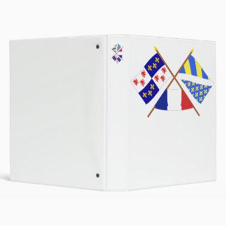 """Banderas cruzadas de Picardie y de Oise Carpeta 1"""""""