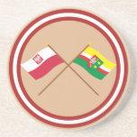 Banderas cruzadas de Polonia y de Lubuskie Posavaso Para Bebida
