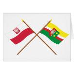 Banderas cruzadas de Polonia y de Lubuskie Felicitacion