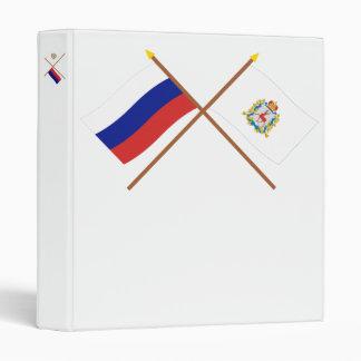 """Banderas cruzadas de Rusia y de Nizhniy Novgorod Carpeta 1"""""""