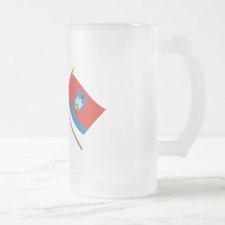 Banderas cruzadas de Rusia y de Oryol Oblast Taza De Cristal