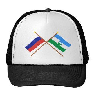 Banderas cruzadas de Rusia y del Rep. de Gorras