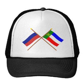 Banderas cruzadas de Rusia y república de Khakassi Gorra