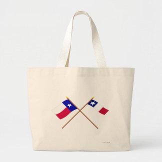 Banderas cruzadas de Tejas y de Dodson Bolsa