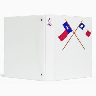 Banderas cruzadas de Tejas y de Dodson Carpeta 2,5 Cm