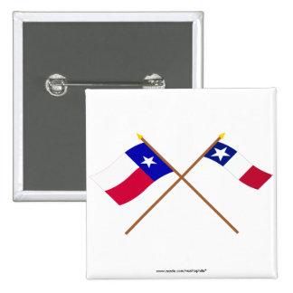 Banderas cruzadas de Tejas y de Dodson Pin