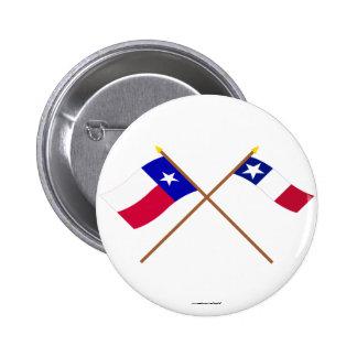 Banderas cruzadas de Tejas y de Dodson Pins