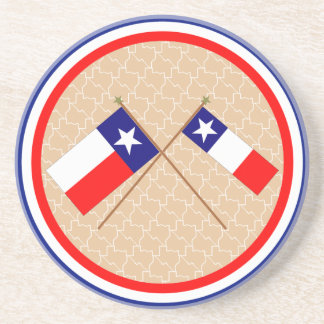 Banderas cruzadas de Tejas y del condado de Grimes Posavasos Manualidades