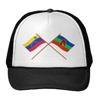 Banderas cruzadas de Venezuela y de Amazonas Gorros