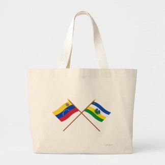 Banderas cruzadas de Venezuela y de Guárico Bolsa
