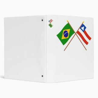 """Banderas cruzadas del Brasil y de Bahía Carpeta 1"""""""