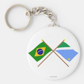 Banderas cruzadas del Brasil y de Mato Grosso del  Llavero