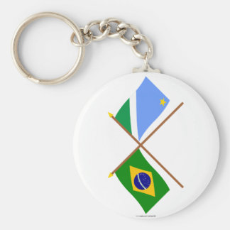 Banderas cruzadas del Brasil y de Mato Grosso del  Llaveros