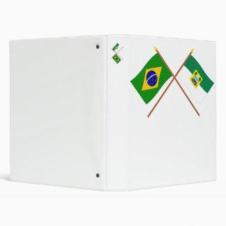 Banderas cruzadas del Brasil y de Rio Grande do No