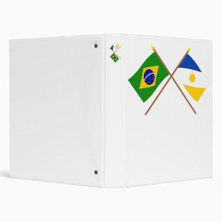 """Banderas cruzadas del Brasil y de Tocantins Carpeta 1"""""""