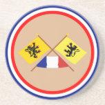 Banderas cruzadas del Nord-Pas-de-Calais y de Nord Posavasos Diseño