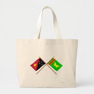 Banderas cruzadas del png y de la provincia septen bolsa