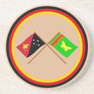 Banderas cruzadas del png y de la provincia septen posavasos diseño
