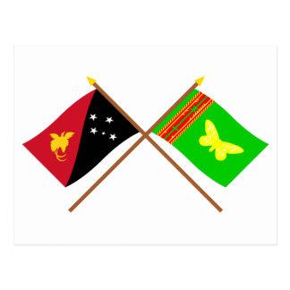 Banderas cruzadas del png y de la provincia postal