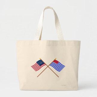 Banderas cruzadas del sedero de Bennington y del p Bolsas De Mano