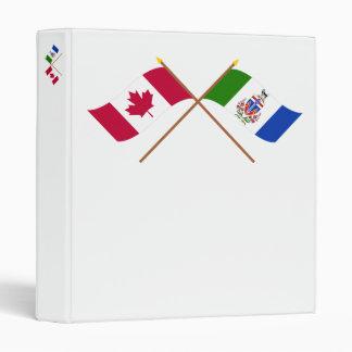 """Banderas cruzadas del territorio de Canadá y del Carpeta 1"""""""
