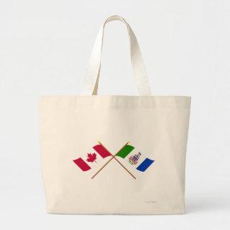 Banderas cruzadas del territorio de Canadá y del Y Bolsa De Mano