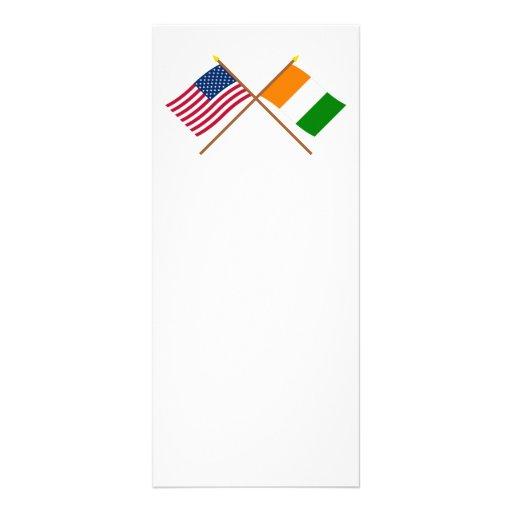 Banderas cruzadas d'Ivoire de los E.E.U.U. y de Co Lonas Personalizadas