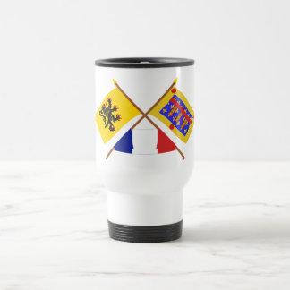Banderas cruzadas, Nord-Pas-de-Calais y Taza De Viaje