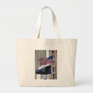 Banderas de 9/11 monumento bolsa lienzo