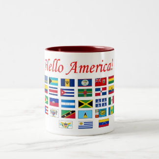 Banderas de América Taza De Dos Tonos