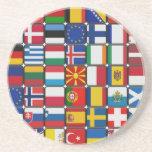 Banderas de banderas posavasos manualidades