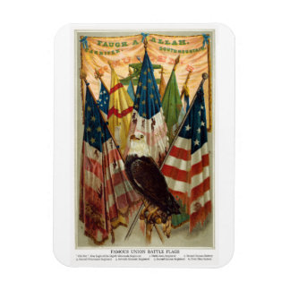Banderas de batalla de la guerra civil no.1 imanes de vinilo