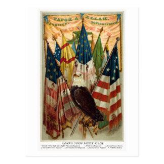 Banderas de batalla de la guerra civil no.1 tarjetas postales