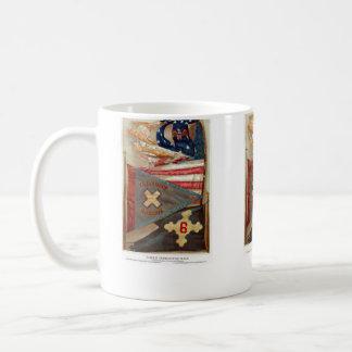 Banderas de batalla de la guerra civil no.2 taza clásica