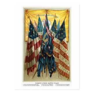 Banderas de batalla de la guerra civil no.3 postales
