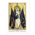 Banderas de batalla de la guerra civil no.4 tarjetas postales