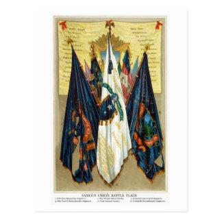 Banderas de batalla de la guerra civil no.4 tarjeta postal