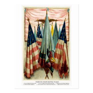 Banderas de batalla de la guerra civil no.5 tarjeta postal