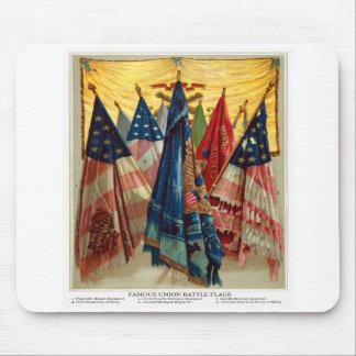 Banderas de batalla de la guerra civil no 6 tapetes de ratones
