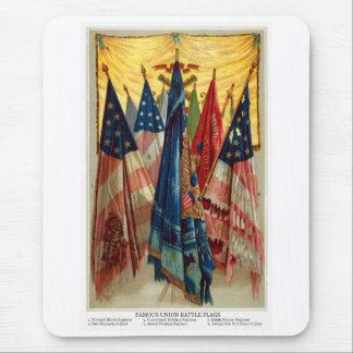 Banderas de batalla de la guerra civil no.6 alfombrilla de ratón