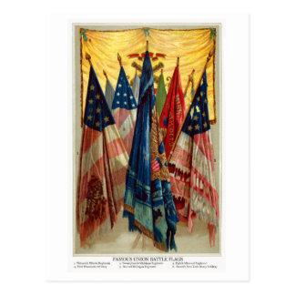 Banderas de batalla de la guerra civil no.6 tarjeta postal