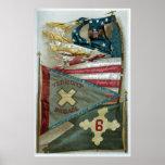 Banderas de batalla famosas de la unión - placa 1  impresiones