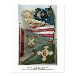 Banderas de batalla famosas de la unión - placa 1 postal