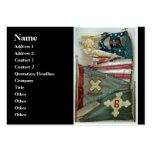 Banderas de batalla famosas de la unión - placa 1  plantillas de tarjetas personales