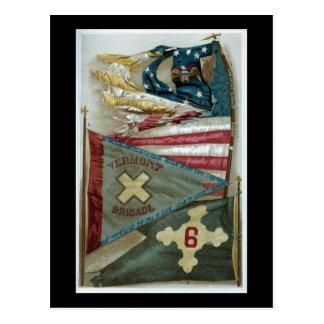Banderas de batalla famosas de la unión - placa 1 tarjetas postales