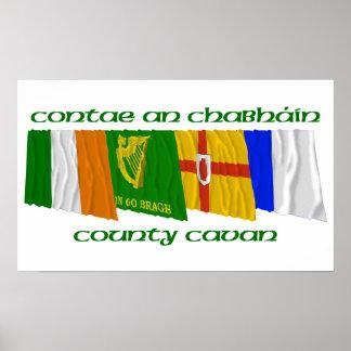 Banderas de Cavan del condado Póster