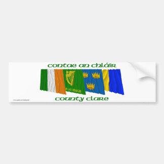 Banderas de Clare del condado Pegatina Para Auto