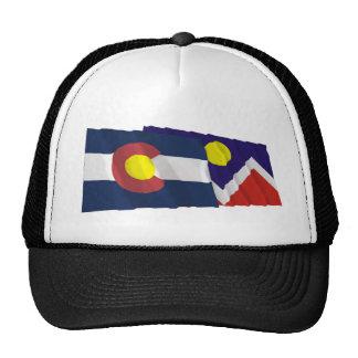 Banderas de Colorado y de Denver Gorras